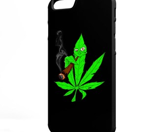 Weed Leaf Smoking Weed Kush iPhone Galaxy Note LG HTC Hybrid Rubber Protective Case Marijuana Kush