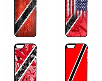 Trinidad and Tobago Flags  iPhone Galaxy Note HTC LG Hybrid Rubber Protective Case