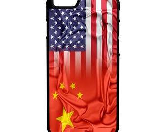 China American Flag iPhone Galaxy Note LG HTC Hybrid Rubber Protective Case