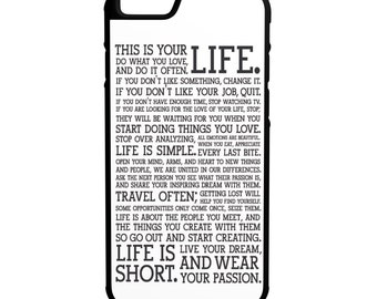 Life Inspiration iPhone Galaxy HTC LG Hybrid Rubber Protective Case