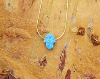 Simulated Opal Necklaces