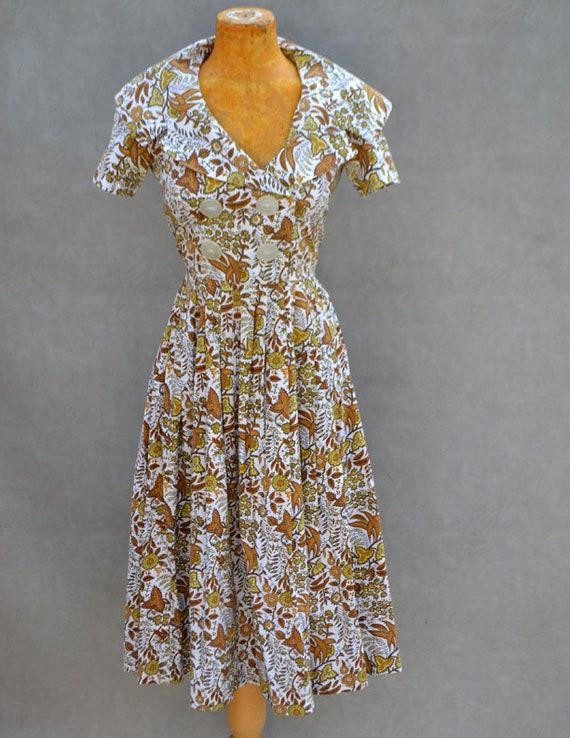 Authentic 1950's Paisley Dress