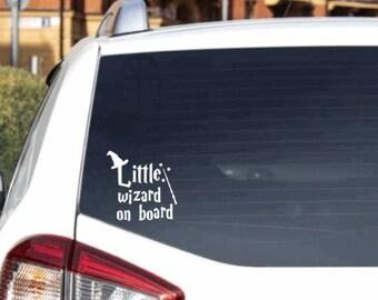 Little wizard on board Vinyl Decal Sticker Car Window Lick