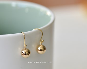 ea01b0f4b 18K gold plated classic ball drop earrings handmade womens jewellery gift  by East Link Jewellery