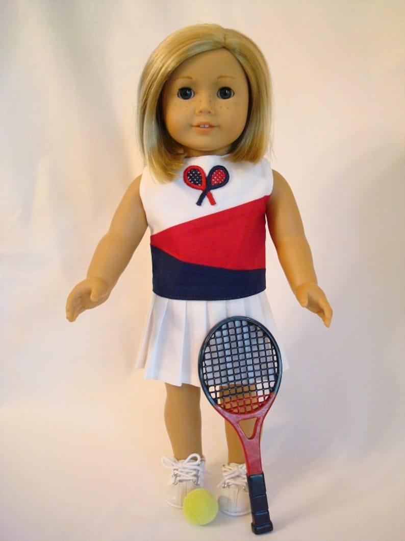 e5ee3b9a32de6 Tennis Racket 4-piece Set for American Girl Doll and 18-inch Dolls – Tennis  Racket, Tennis Ball, Shirt and Pleated Skirt - Tennis Racquet