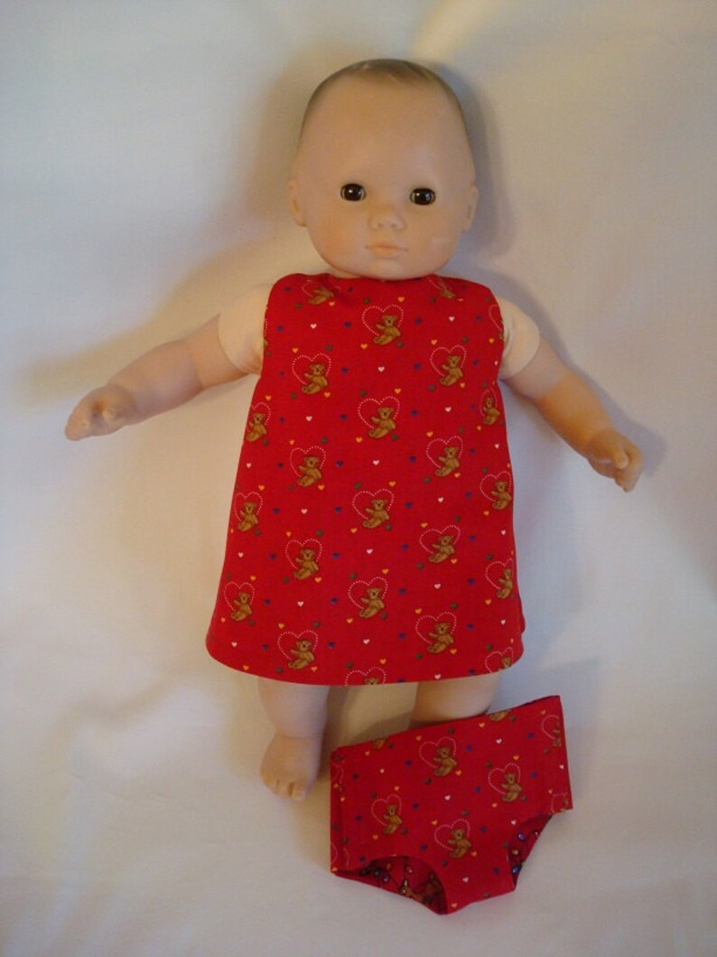 Set of 2 reversible fabric diapers for any 15/' inch doll