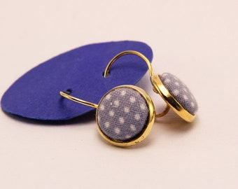 Great earrings, covered with fabric