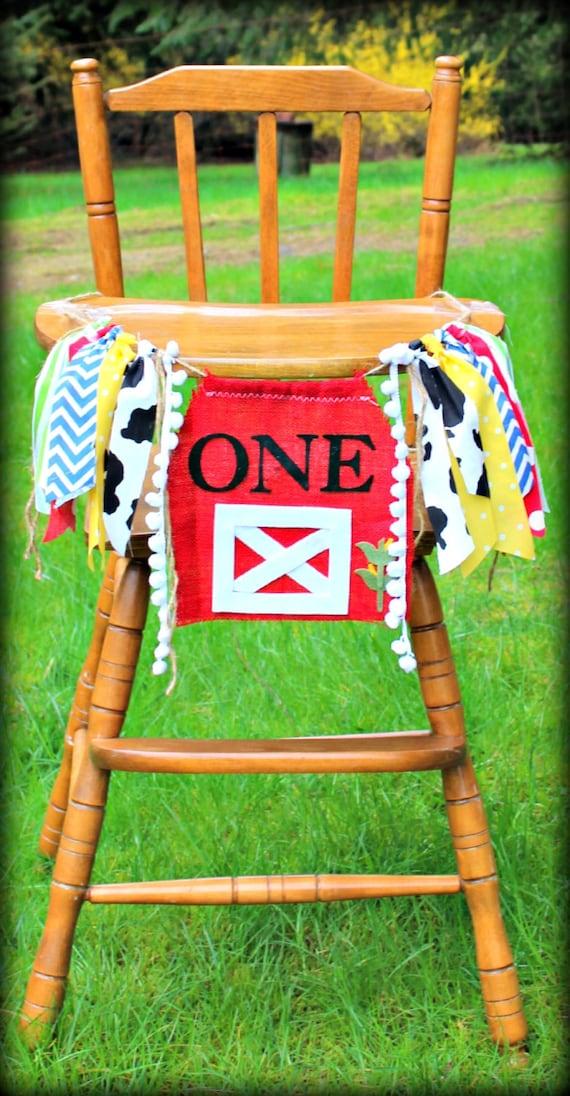 First Birthday High Chair Burlap Banner Birthday Banner Party Decor Barn ONE Cake Smash One Banner Photo Prop First Birthday