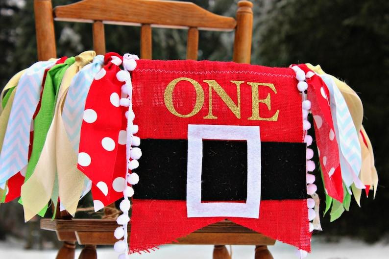 Christmas Themed 1st Birthday Party.Christmas 1st Birthday Decorations Banner Santa Garland I Am One First Birthday Bunting Handmade Christmas Burlap Merry