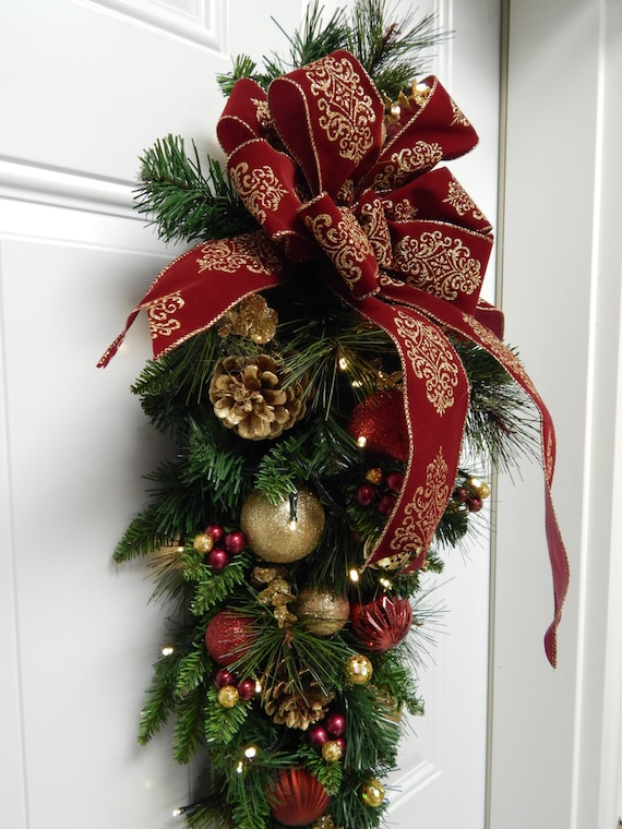 image 0 - Pre Lit Christmas Wreaths Battery Operated