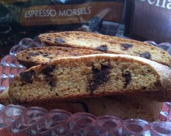 Espresso Coffee Biscotti with Espresso Morsels