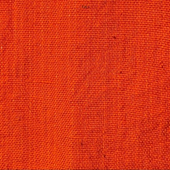 Vintage 60's Flower Embroidered Orange Cotton Top - image 4