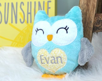 Owl Stuffed Animal, Personalized Stuffed Animals for Babies, Soft Toys for Kids