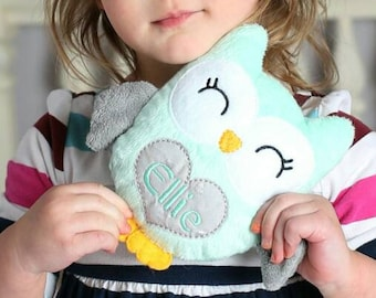 Owl Plushie Personalized Toddler Gifts Personalized Baby Gift Sensory Toy Gift For