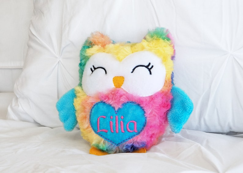 homemade stuffed animal Custom stuffie Personalized plushie newborn nursery,plush Handmade owl Embroidered owl Personalized cuddly owl