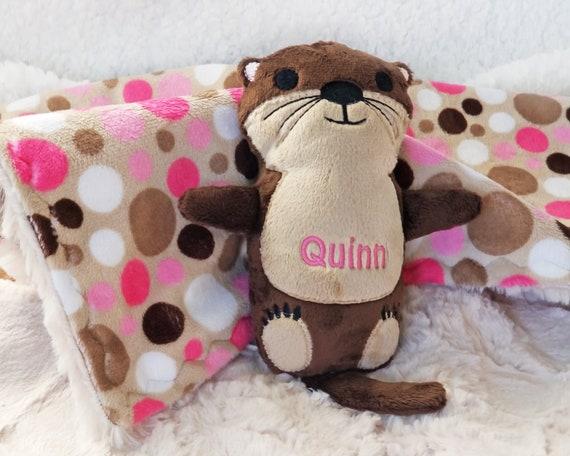 Otter Valentine Personalized Sea Otter Stuffed Animal Otter Etsy