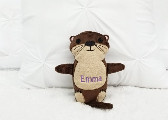 otter stuffed animal plush sea otter for kids birthday sea etsy