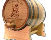 10 Liter Barrel- Tequila Barrel- Whiskey Barrel- Engraved American White Oak Barrel- Age Your Own Whiskey- Whiskey- Tequila