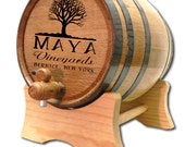 FREE SHIPPING 2 Liter Personalized Oak Wine Barrel- Custom American White Oak Wine Barrel- Wedding Gift- Wine Theme Gift- Wine Dispenser
