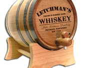 Personalized 10 Liter Whiskey Barrel- Distillery Barrel- Personalized Distillery Whiskey Barrel- Custom Designed Barrel- Oak Keg