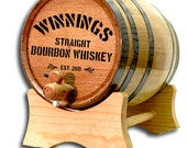20 Liter Personalized Oak Whiskey Barrel- Personalized Oak Barrel-Personalized Wine Barrels- Oak Keg-Custom Oak Whisky Barrel