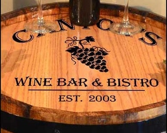 Personalized Wine Barrel Lazy Susan Etsy