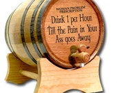 10 Liter Barrel- Prescription Barrel- Whiskey Barrel- Engraved American White Oak Barrel- Age Your Own Whiskey- Tequila-Booze