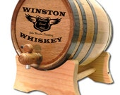 20 Liter Personalized Oak Whiskey Barrel- Personalized Oak Barrel-Premium Barrel Aged - Oak Keg- Custom Oak Whisky Barrel