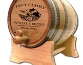 20 Liter Personalized Oak Wine Barrel- Custom Wine Barrel- American White Oak- Wine Cellar Design- Custom Oak Whisky Barrel