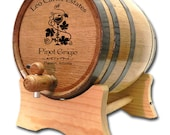 FREE SHIPPING 3 Liter Personalized Oak Wine Barrel- Custom American White Oak Barrel- Wedding Gift- Wine Theme Gift- Wine Drinker Dispenser