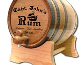20 Liter Personalized Oak Barrel- Captain Rum Barrel-Distillery Barrel- Custom Oak Whiskey Barrel- American White Oak