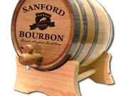 FREE SHIP Personalized 1 Liter Oak Barrel- Bourbon Design- Personalized Whiskey Barrel- Personalized Wine Barrels- Custom Whiskey Barrel