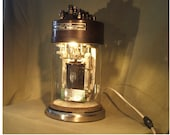 UNION SWITCH SIGNAL Co. Railroad crossing switch custom made lamp , light. Industrial steampunk repurposed . Upcycled