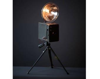 Kodak Brownie lamp. Repurposed light.