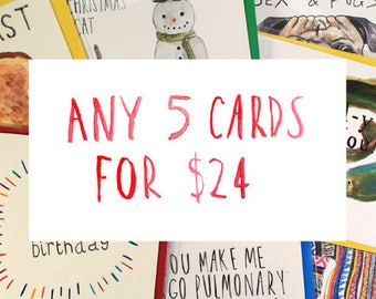 Any 5 Cards - Special Offer!