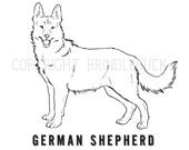 Kleurplaten Honden Duitse Herder.Items Op Etsy Die Op Duitse Herder Hond Kleurplaten Pagina