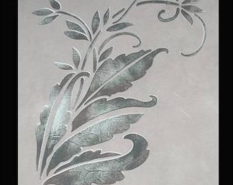 Stencil, Wall Stencil, Plaster Stencil, Furniture Stencil, Delphinia