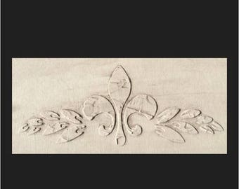 Stencil, Wall Stencil, Plaster Stencil, Furniture Stencil, Fleur de Lis Stencil Scroll