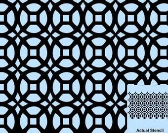 Stencil, Wall Stencil, Plaster Stencil, Furniture Stencil, Jasmina Repeating Moroccan Stencil