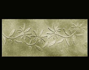 Stencil, Wall Stencil, Plaster Stencil, Furniture Stencil, Sheree Vine Border