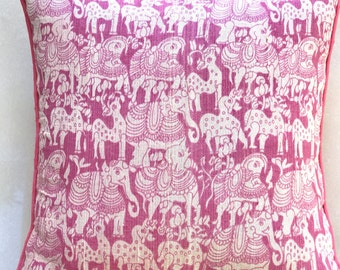 Panchatantra Cushion Cover- Pink
