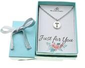 Initial Charm Necklace. Initial Necklace. Initial Charm. Initial Jewelry. Letter T necklace. Letter T Jewelry. Personalized jewelry.