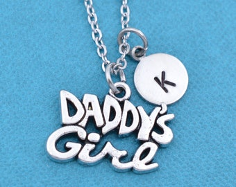 Daddy's Girl Necklace.  Personalized jewelry. Personalized necklace. Initial Necklace. Letter necklace. Custom necklace. Personalized gift