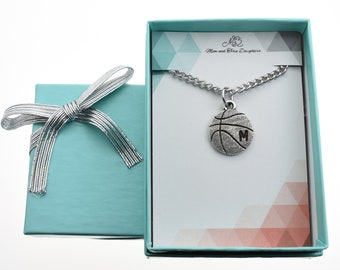 Solid 925 Sterling Silver Slam Dunk Basketball in Net Charm Bead