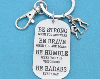 Badass Wrestling Keychain.  Wrestling Charm.  Wrestling Mom, Wrestling team gifts, Gift for Wrestler, Be Badass Every Day.