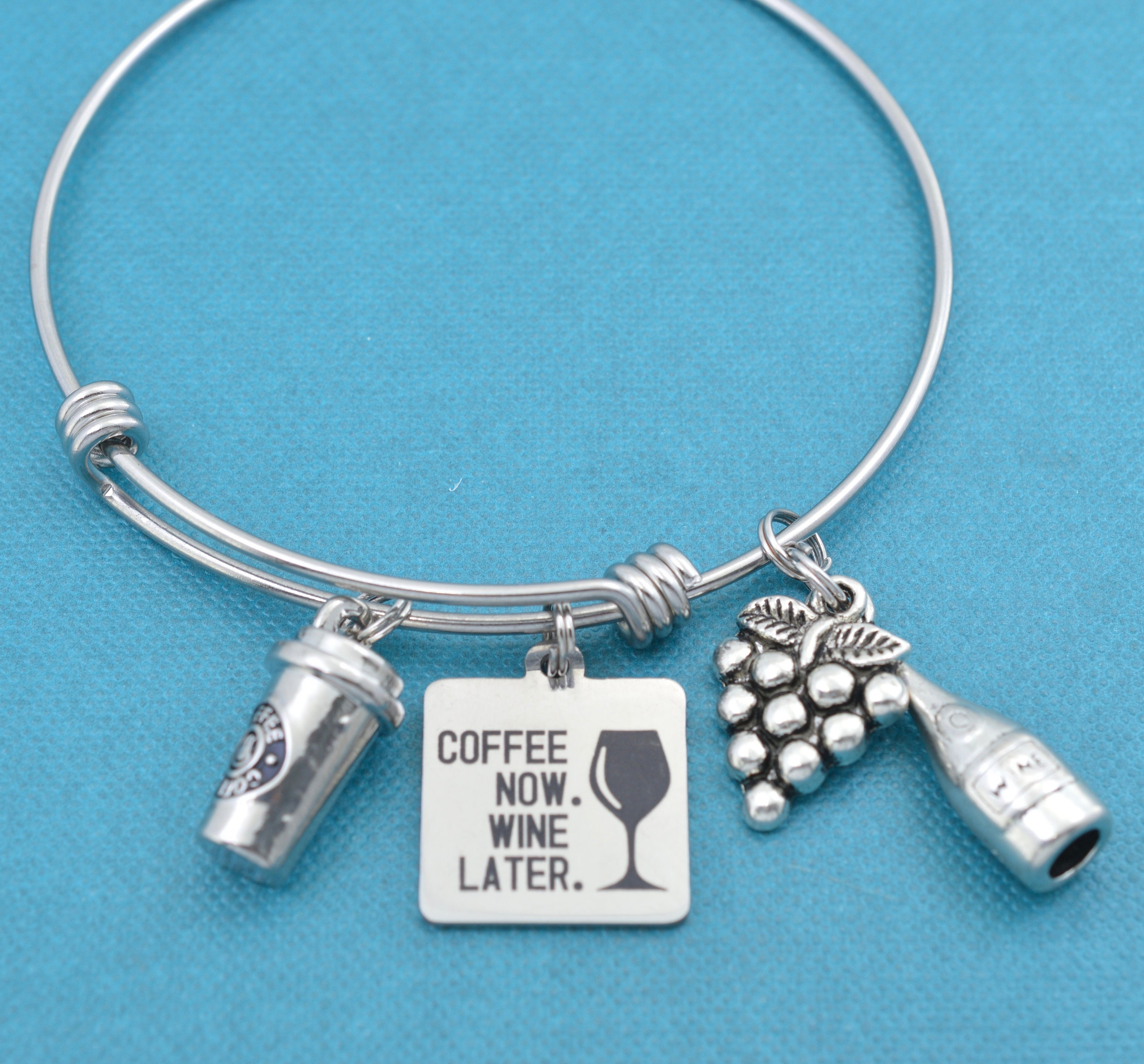 Nurse Gift. Nurses call the shots bangle bracelets in silver stainless steel with silver toned nurse charms Gift for Nurse RN gift