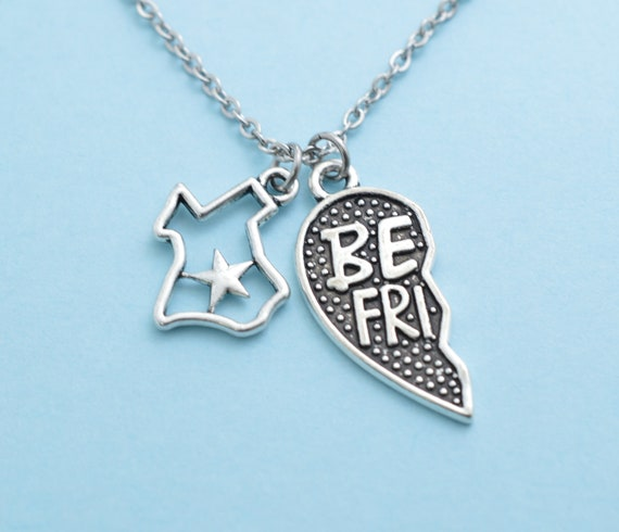 Friendship Necklace Texas Gift Custom Gift TX Lone Star BFF Necklace Personalized Gift Texas Best Friend Necklace Best Friend Gift