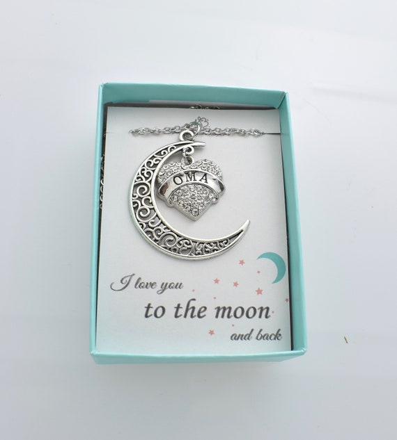Oma Love Her to the Moon and Back Charm Necklace.  f2ec47c2b
