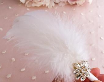 White feather headband, white feather alice band, feather hair accessory, bridal feather headband, wedding feather headband