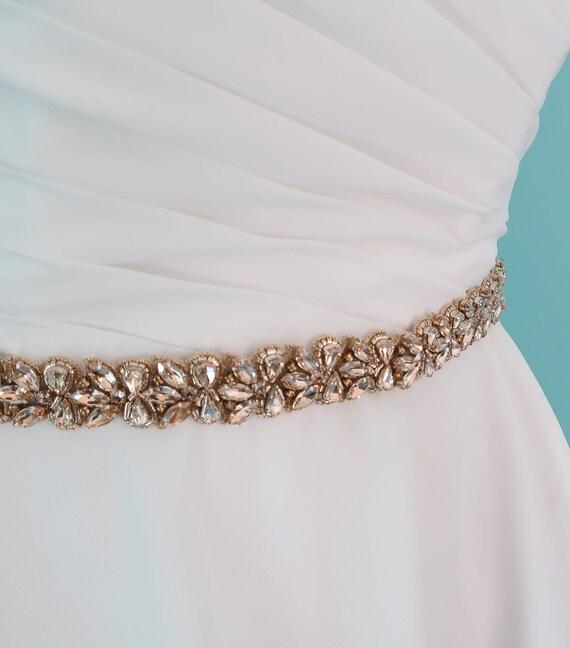ceinture de robe de mariée dorée embelli de bijoux